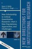 New Scholarship in Critical Quantitative Research, Part 2 (eBook, ePUB)