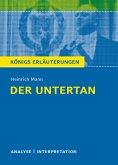 Der Untertan von Heinrich Mann. (eBook, ePUB)