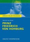 Prinz Friedrich von Homburg von Heinrich von Kleist. (eBook, ePUB)