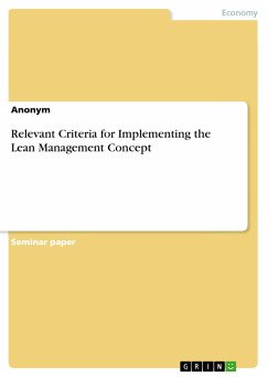 Relevant Criteria for Implementing the Lean Management Concept