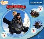 Dragons - Die Reiter von Berk - Dragons Starter-Box, 3 Audio-CD