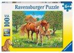 Ravensburger 10577 - Pferdeglück auf der Wiese, 100 Teile XXL Puzzle
