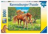 Ravensburger 10577 - Pferdeglück auf der Wiese, XXL Puzzle 100 Teile