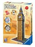 Ravensburger 12586 - Big Ben mit echter Uhr, 3D Puzzle, 216 Teile