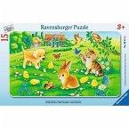 Ravensburger 06111 - Kuschlige Tierkinder, 15 Teile Rahmenpuzzle