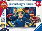 Ravensburger 09042 - Feuerwehrmann Sam hilft in der Not, 2 x 24 Teile Puzzle