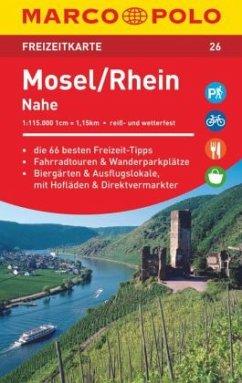 MARCO POLO Freizeitkarte Mosel, Rhein, Nahe 1:115 000