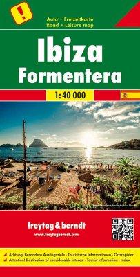 Freytag & Berndt Auto + Freizeitkarte Ibiza - Formentera, Top 10 Tips, Autokarte 1:40.000