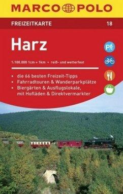 MARCO POLO Freizeitkarte Harz 1:100 000