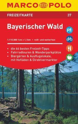 marco polo freizeitkarte bayerischer wald 1 110 000. Black Bedroom Furniture Sets. Home Design Ideas