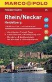 MARCO POLO Freizeitkarte Rhein, Neckar, Heidelberg 1:100 000