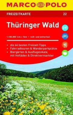 MARCO POLO Freizeitkarte Thüringer Wald 1:100 000