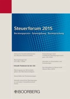 Aktuelle Tendenzen bei der vGA / Steuerforum 2015