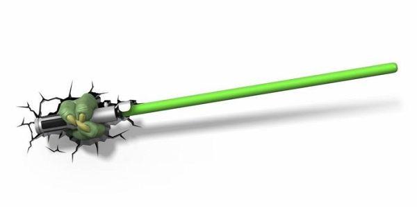 3d deko licht star wars yoda s lichtschwert inkl wandsticker portofrei bei b kaufen. Black Bedroom Furniture Sets. Home Design Ideas