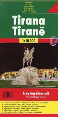 Freytag & Berndt Stadtplan Tirana 1:10.000