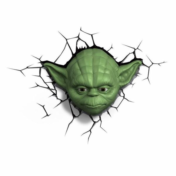 3d deko licht star wars yoda inkl wandsticker. Black Bedroom Furniture Sets. Home Design Ideas