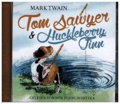 Tom Sawyer & Huckleberry Finn, 1 Audio-CD - Twain, Mark