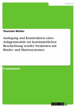 Auslegung und Konstruktion eines Anlagenmoduls zur kontinuierlichen Beschichtung textiler Strukturen mit Binder- und Matrixsystemen (eBook, PDF)