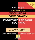 German Technical Dictionary (Volume 2) (eBook, ePUB)