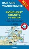 Rad- und Wanderkarte Mönchgut, Granitz, bis Bergen