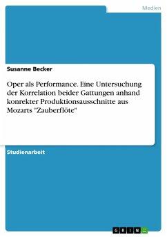 Oper als Performance. Eine Untersuchung der Korrelation beider Gattungen anhand konrekter Produktionsausschnitte aus Mozarts