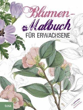 blumen-malbuch für erwachsene - buch - buecher.de