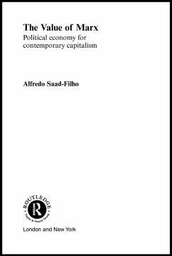 The Value of Marx (eBook, PDF) - Filho, Alfredo Saad