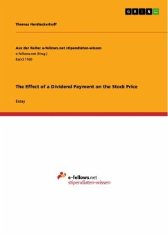 The Effect of a Dividend Payment on the Stock Price (eBook, ePUB)