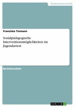 Sozialpädagogische Interventionsmöglichkeiten im Jugendarrest (eBook, ePUB)
