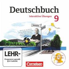 9. Schuljahr - Übungs-CD-ROM zum Arbeitsheft / Deutschbuch, Gymnasium Östliche Bundesländer und Berlin