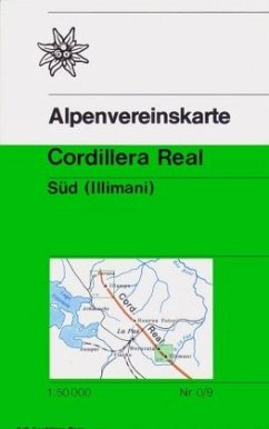 Alpenvereinskarte Cordillera Real Süd