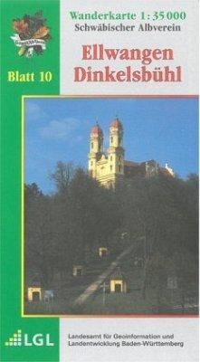 Topographische Wanderkarte Baden-Württemberg El...