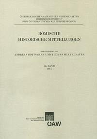 Römische Historische Mitteilungen / Römische Historische Mitteilungen 56. Band 2014
