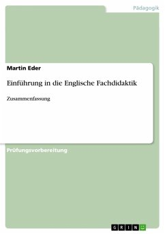 Einführung in die Englische Fachdidaktik (eBook, PDF) - Eder, Martin
