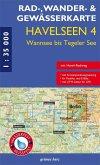 Rad-, Wander- und Gewässerkarte Havelseen, Wannsee bis Tegeler See