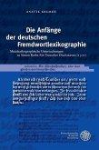 Die Anfänge der deutschen Fremdwortlexikographie (eBook, PDF)