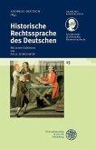 Historische Rechtssprache des Deutschen (eBook, PDF)