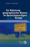 Zur Betonung geographischer Namen im deutschsprachigen Europa (eBook, PDF)