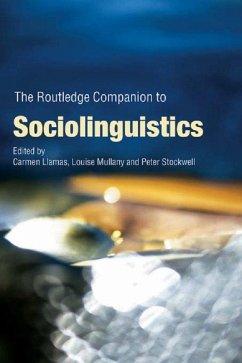 The Routledge Companion to Sociolinguistics (eBook, PDF)