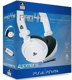 Stereo Gaming Headset Pro4 10 für PS4/PS Vita, Kopfhörer, weiss