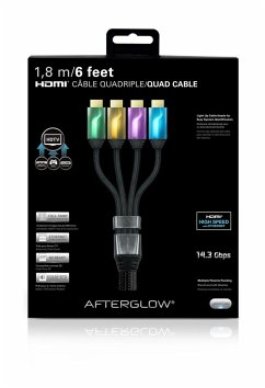 Afterglow HDMI Kabel 1,8m (4x), grün/or./lila/blau