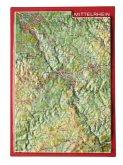Reliefpostkarte Mittelrhein