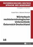 Wörterbuch rechtsterminologischer Unterschiede Österreich-Deutschland