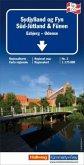 Kümmerly+Frey Karte Dänemark Süd-Jütland Regionalkarte