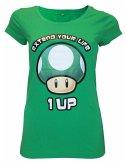 Nintendo T-Shirt (Damen)-XS- Extend Your Life,grün