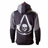 Assassins Creed 4 Hoodie -L-, Black Grey Character