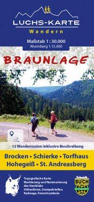 Schmidt-Buch-Verlag / Schmidt-Buch-Vlg Luchskarte Braunlage