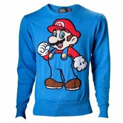 Nintendo Sweater -XL- Mario, blau