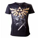 Nintendo T-Shirt -L- Zelda/Link, schwarz