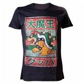 Nintendo T-Shirt -S- Bowser Kanji, schwarz